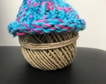 Blue and Pink baby hat