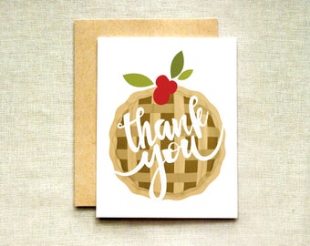 Pie Thank You Card (Individual & Set of 4)