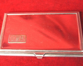 VINTAGE REED and BARTON Silver Plated Card Case - 689  S