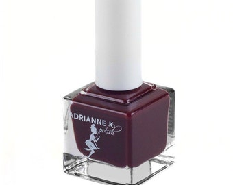 ADRIANNE K, Nontoxic 7 Free Burgundy Nail Polish, Giselle, .51 fl oz, Vegan