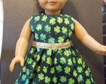 St. Patrick's Day Doll Dress