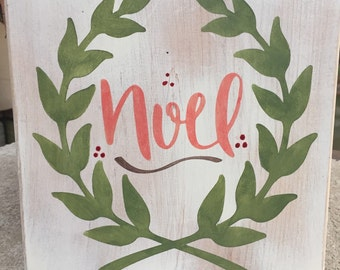 Noel wood decor,Holiday wood decor,Christmas plaque,Holiday Gallery wall art,Holiday sign,Christmas manle decor,Typography art,rustic decor