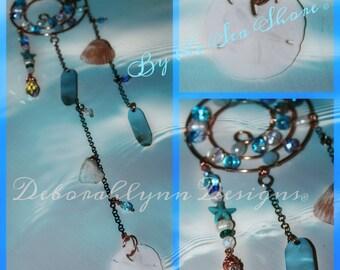 Seashell Suncatcher, BY THE SEASHORE,  Ocean Sunjewel,  Crystal Suncatcher, Window Suncatcher, Window Art, Water Lover, Sunjewel, Sea shells