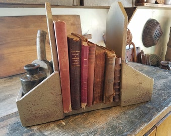 Primitive Cookbook and Utensil Holder
