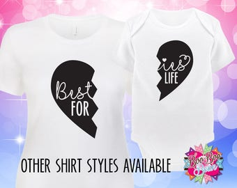 Besties For Life, BFF Shirts, Best Friends Shirts, Mom and Baby Matching Shirts, Mommy and Me Shirts, Mommy and Me Outfits, Baby Shower Gift