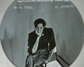 Jazz great Al Jarreau hand painted vinyl record art