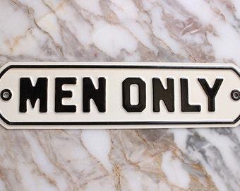 M8004 Vintage Enamel 'Men Only' Sign