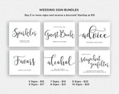 Wedding Sign Bundle | BUNDLE 2 | Wedding Reception Signs | Printable Wedding Signs | EDN 5409 - 5432