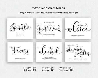 Wedding Sign Bundle   BUNDLE 2   Wedding Reception Signs   Printable Wedding Signs   EDN 5409 - 5432
