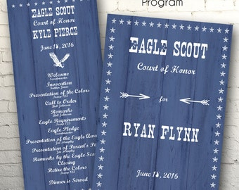 Matching Eagle Scout Program- Flat Card or Folded