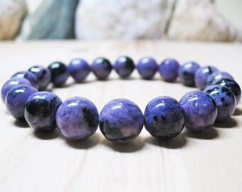 Charoite Bracelet Angel Bracelet Chakra Bracelet Healing Bracelet Calming Bracelet Spiritual Bracelet Balance Bracelet 10mm Charoite Beads