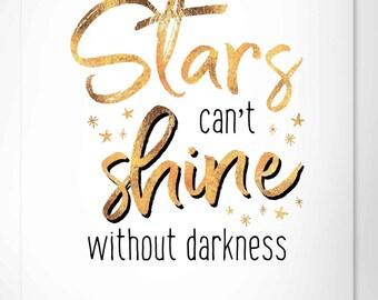 stars shine digital print
