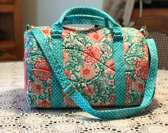 Quilted Barrel Bag