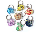 chubby eeveelutions keychains