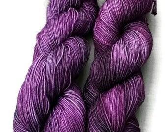 Yarn, Hand dyed yarn, Purple Yarn,  Superwash Merino/Nylon,Sock Yarn, Knitting Yarn, Crochet Yarn - Gabby