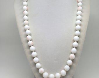 Mesmerizing Signed Japan IND Knotted Glass Vintage Estate Necklace