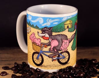 BMX 3 Little Pigs 11oz Mug