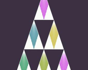 Art Deco Xmas Card