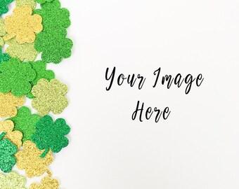 St. Patrick's Day Styled Stock photo| shamrock Styled Stock Photography| Blog photos | Product mockup