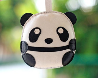 Tobi The Big Panda Leather Charm