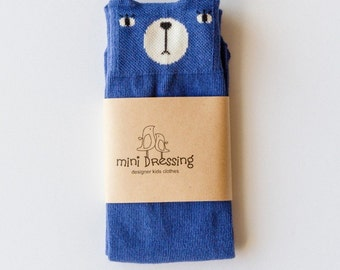 Blue Bear Knee High Socks - MiniDressing
