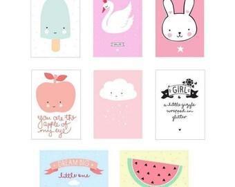 Poster Lightbox Sheets - Little Girl