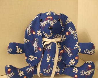 Los Angeles Dodgers, Dodgers Stuffed Toy, Dodgers Rabbit, Dodgers Easter, Easter Rabbit, Easter Bunny, Sports Rabbit, Free Shipping