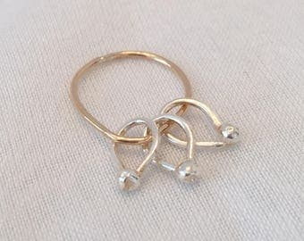 Dainty Silver and Gold Charm