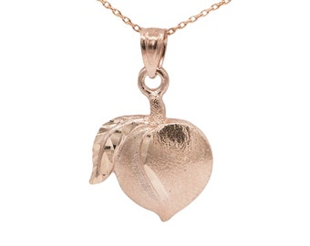 10k Rose Gold Peach Necklace