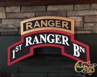 """36"""" Army Ranger Tab Scroll"""