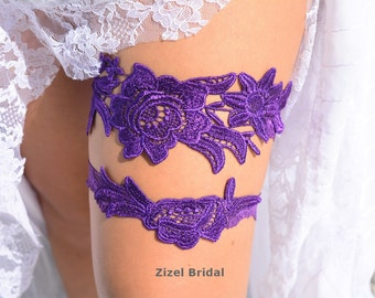 Purple Lace garter, Wedding Garter Set, Bridal Garter, Keep Garter, Purple Wedding Garter, Wedding Garter ,Purple Bridal, Bridal Garter Set