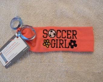 Soccer Girl Custom Embroidered Head Band