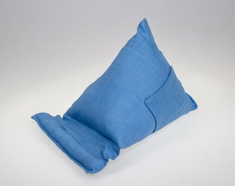 Light Blue Fabric  (Large)  Tablet - Kindle - Ipad - Mobile  Stand