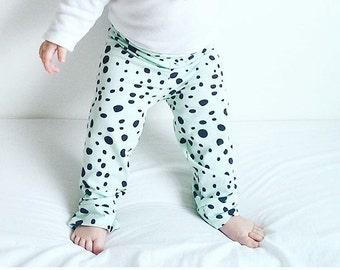 Organic Cotton Mad Mint Dalmatian Leggings