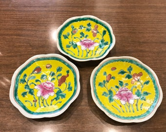 Set of 3 Mid-century chinese plates