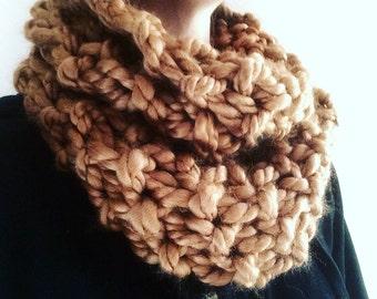 Very Chunky Hand Knit Infinity Scarf | Handmade infinity scarf | knit eternity scarf