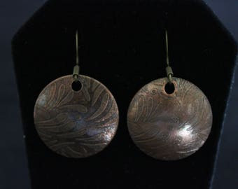 Etched Copper Earrings (05212017-024)