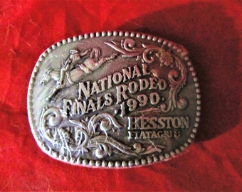 Hesston 1990 National Finals Rodeo Adult Belt Buckle