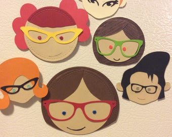 Cutesy Face Magnets