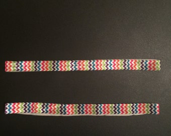 Multi-color Chevron Elastic Headband