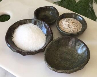 Small Temoku Stacking Bowls (Set of 4)