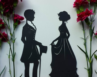 Austenian Lady and Gentleman 9-inch Silhouette Set