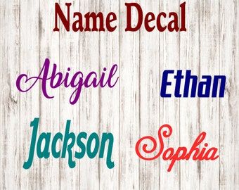 Name Decal,yeti decal,Vinyl Name Decal,Iphone decal,Laptop decal,Personalize,Lily Vinyl Decal,truck decal, car decal,Planner Decal,Sticker
