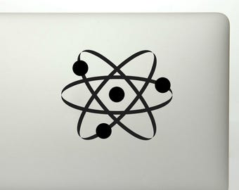 Chemical atom die cut vinyl decal sticker for laptops, yeti, and more