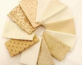 12 Cream Fat Quarters Bundle