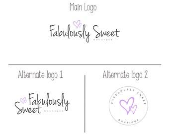 Branding Kit, Premade branding package, Feminine Logo design, Business logo design, modern logo, Boutique, photography, makeup artist