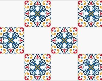 fliesen sticker aufkleber glasfliesen fliesen aufkleber traditionelle spanische fliesen aufkleber kche oder bad modell 1828