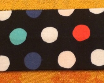 Dark blue polka dot headband!