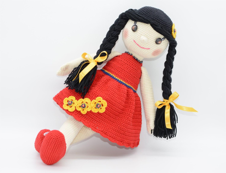Crochet Amigurumi Doll Clothes : Cute Doll Amigurumi crochet Doll with tight by ...