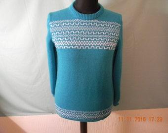 Handmade knitted fairisle jumper.
